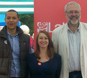 Steve with Jess Asato and Clive Lewis